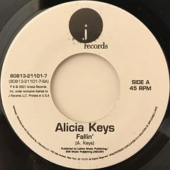 ALICIA KEYS:FALLIN'(LABEL SIDE-A)
