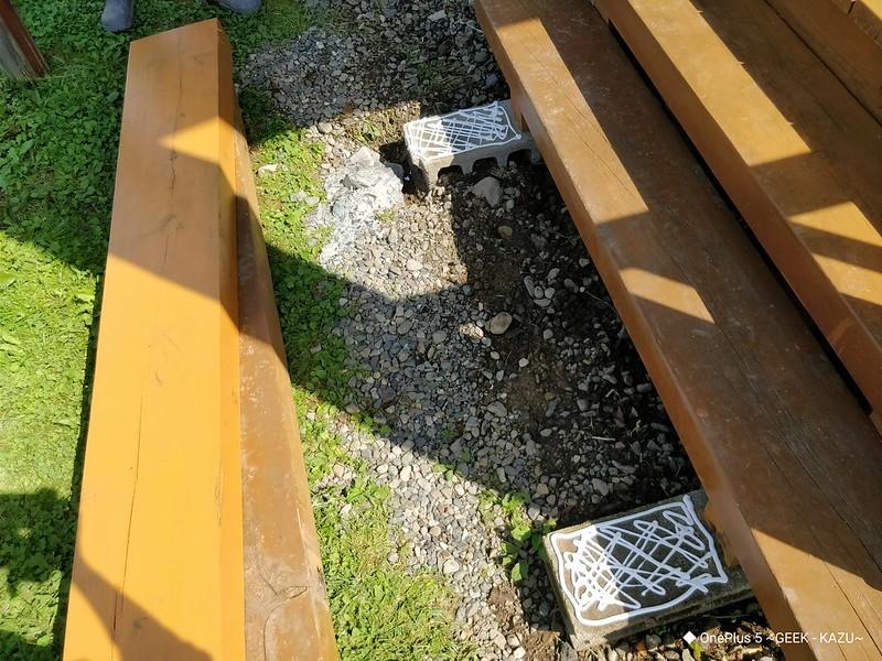 ベランダの階段修理 (5)