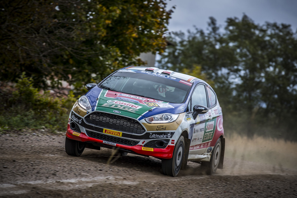 30 Bostanci Murat and Vatansever Onur, Castrol Ford Team Türkiye, Ford Fiesta R2T action during the 2017 European Rally Championship ERC Liepaja rally,  from october 6 to 8, at Liepaja, Lettonie - Photo Gregory Lenormand / DPPI