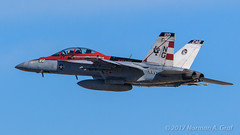 """Boeing F/A-18F Super Hornet CAG bird of VFA-41, """"Black Aces"""", from NAS Lemoore"""