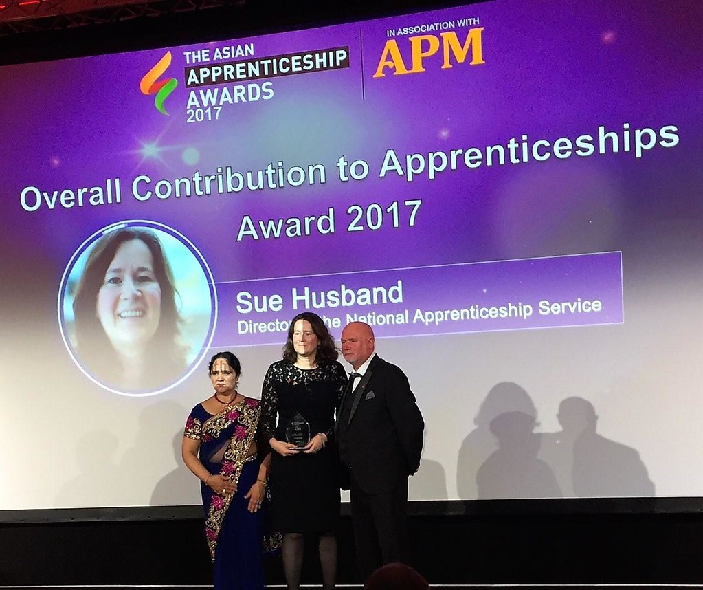 Asian Apprentice awards Sue Husband