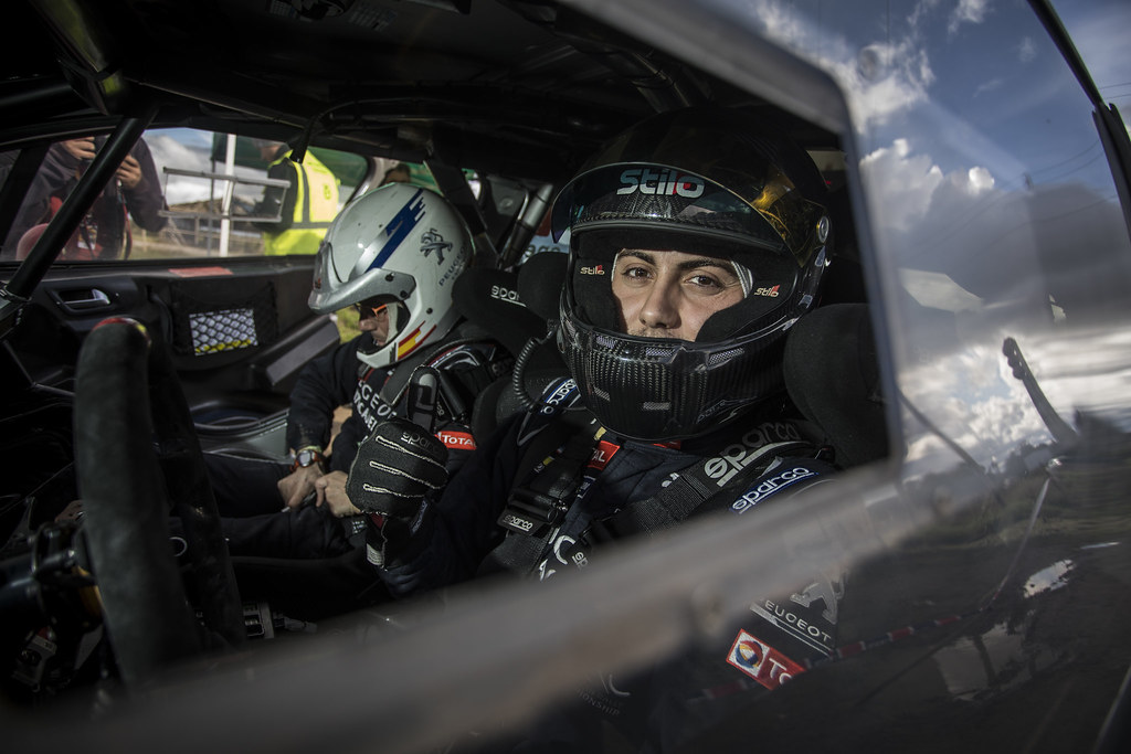 López Pepe and Rozada Borja, Peugeot Rally Academy, Peugeot 208 T16, ERC Junior U28 ambiance during the 2017 European Rally Championship ERC Liepaja rally,  from october 6 to 8, at Liepaja, Lettonie - Photo Gregory Lenormand / DPPI