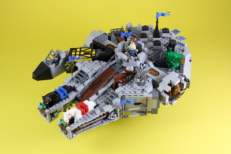 [MOC分享] Flying Castle-Black Falcon 飛行城堡-千年黑鷹