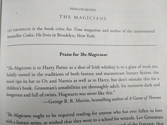 GRRM on The Magicians