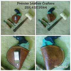Another finely crafted piece from Premier Leather Crafters. Custom IWB Gun holster for a 38 revolver. I had a blast with this one. Beautiful piece that's complete and ready for shipping. The best advantage for any 2nd Amendment carrier is the art of full