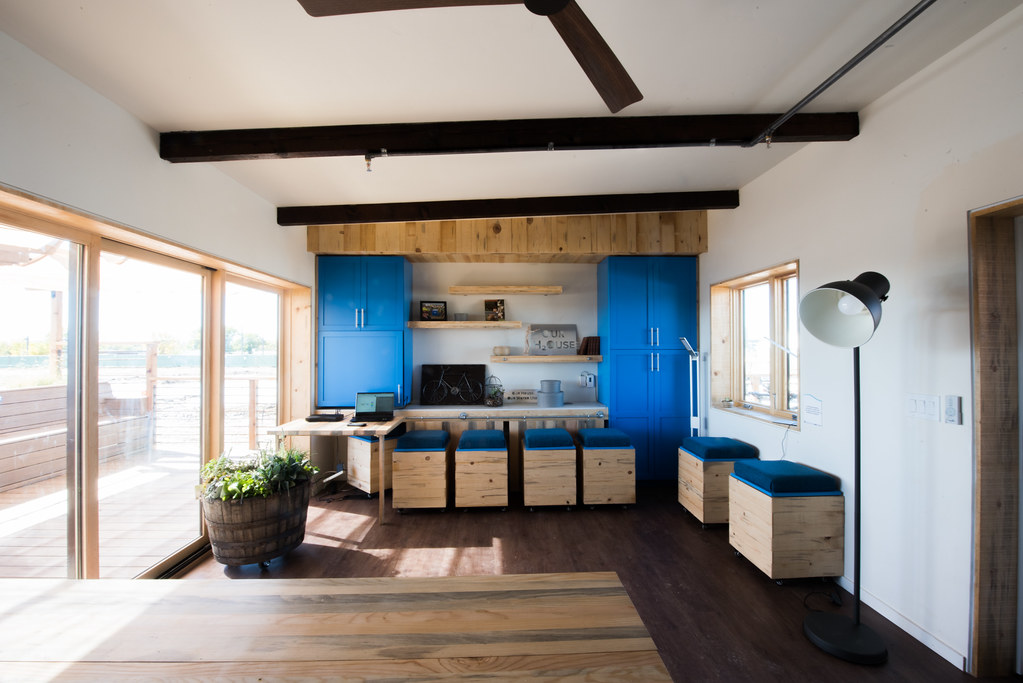 Kitchen And Flexible Dining And Living Space With Multi Function  Convertible Furniture The University Of California, Davis OURH2Ouse  Competition House For ...