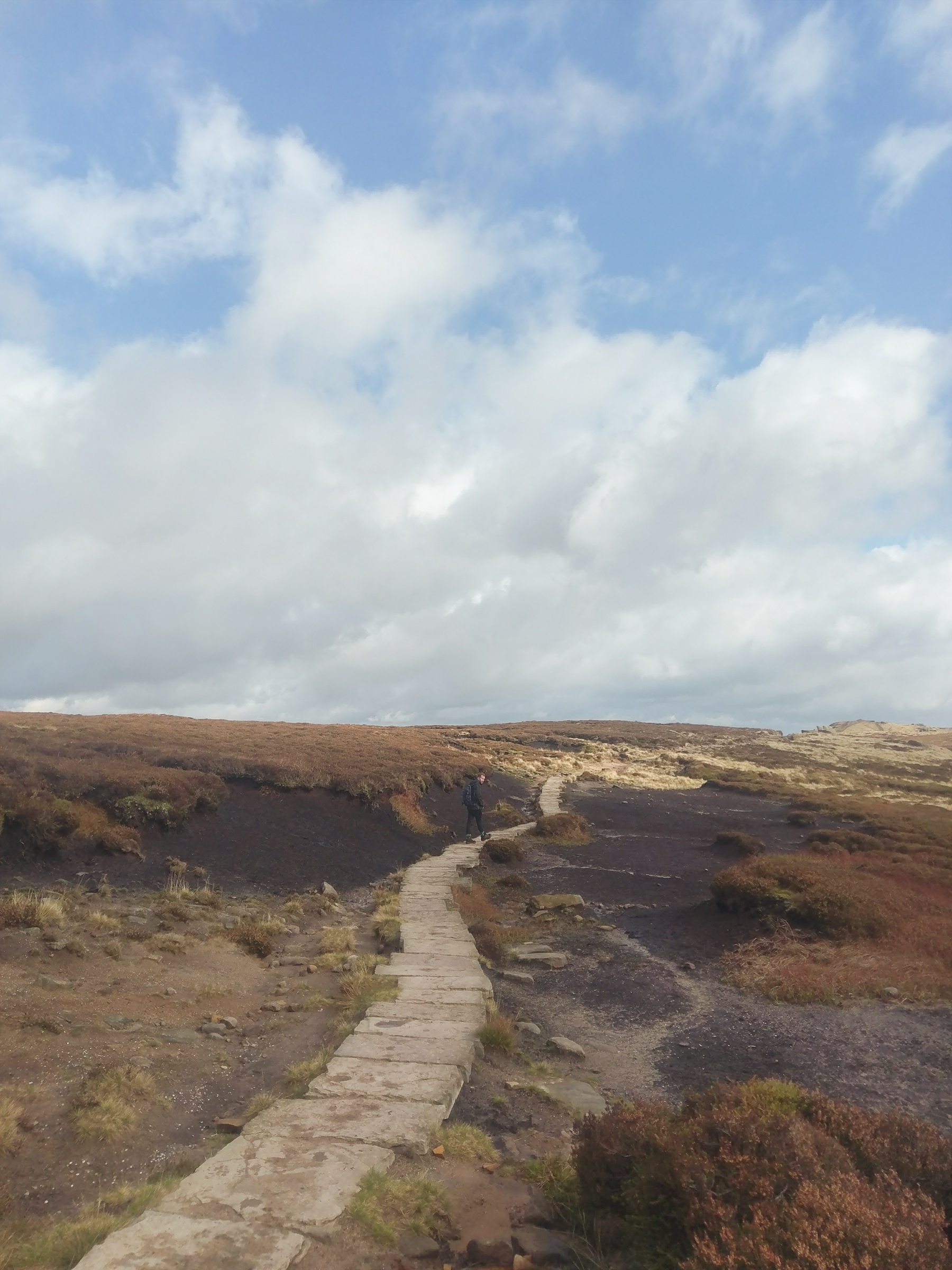 Walking Kinder Scout - Peak District