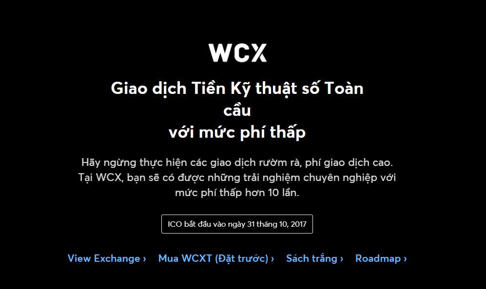 Tặng 5$ WCX coin – loại tiền ảo mới sẽ ra lên sàn vào ngày 31/10/2017