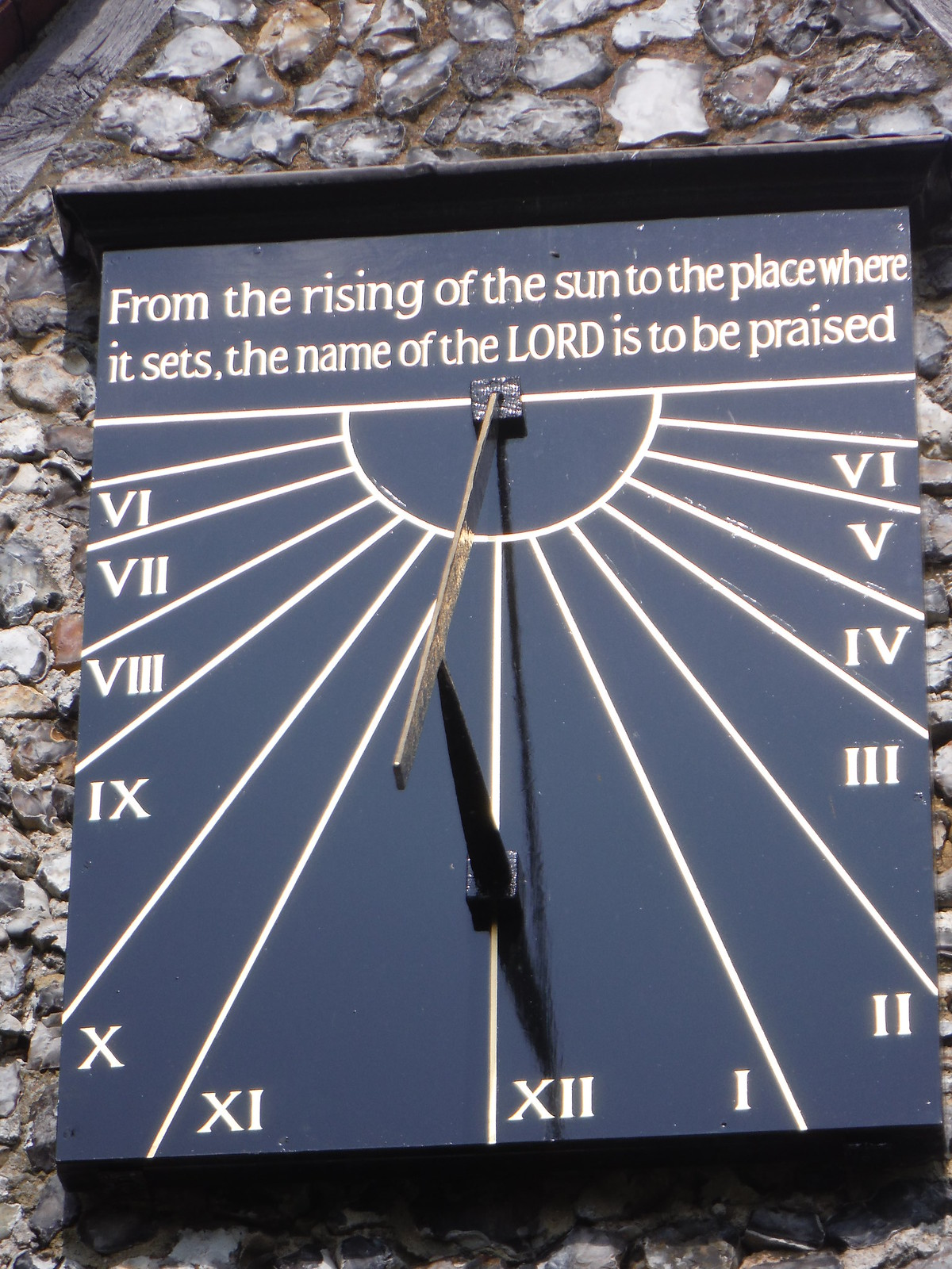 Sundial on St. Peter & St. Paul, Lynsted SWC Walk 299 - Teynham to Faversham (Morning Extension)