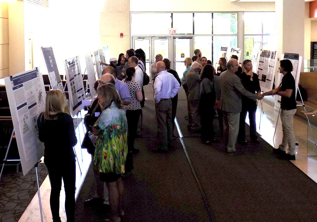 Long shot of poster session
