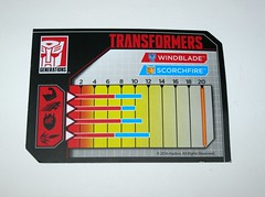 windblade with scorchfire transformers generations titans return deluxe class hasbro 2017 28 collector card