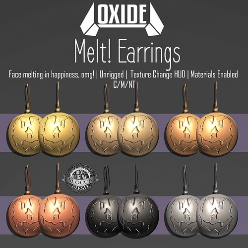 OXIDE Melt! Earrings - Sanarae Halloween Gift