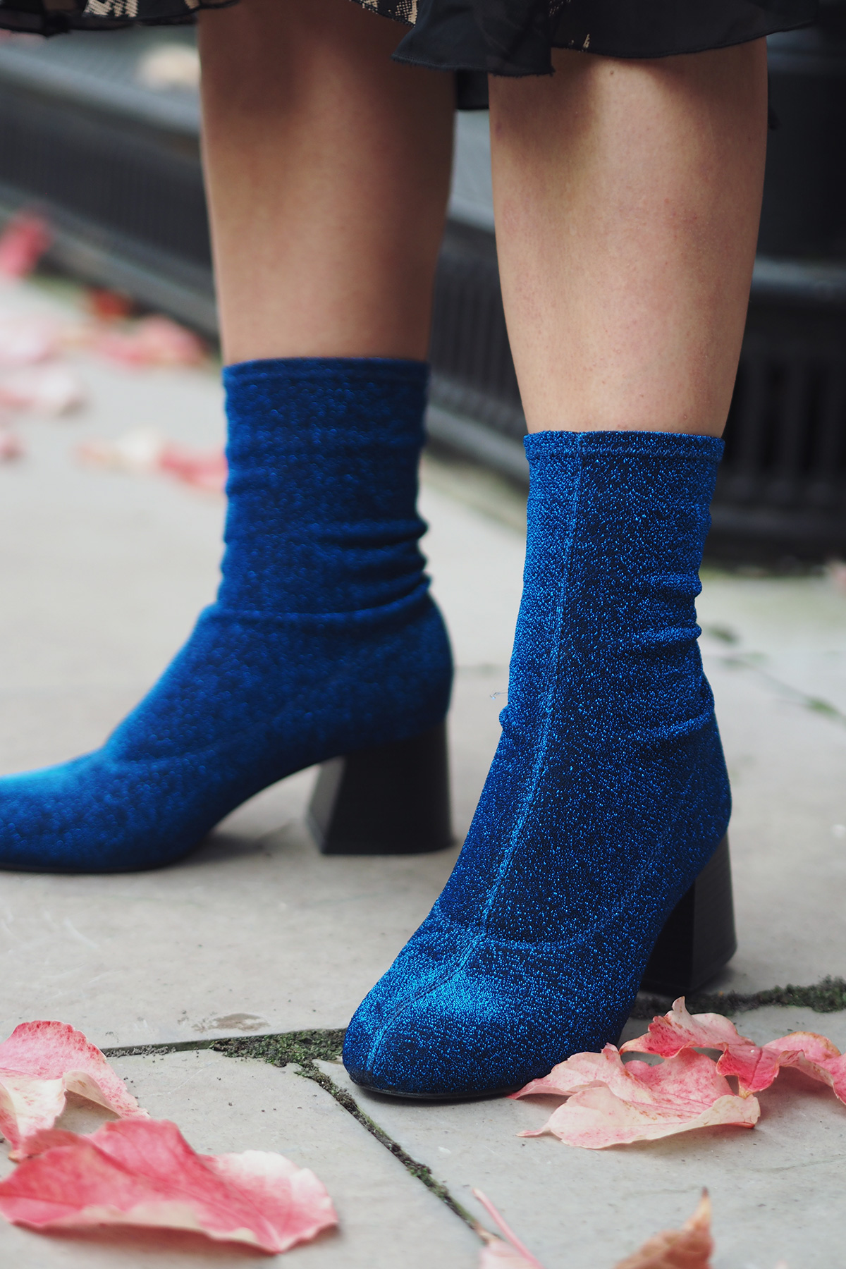 Monki glitter ankle boots