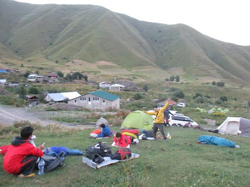 なぜかテントを張らなかった。テン泊してた人たちびびっただろう