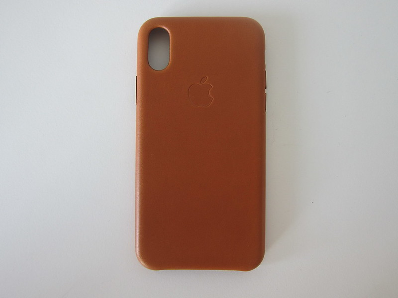 Apple iPhone X Leather Case - Back