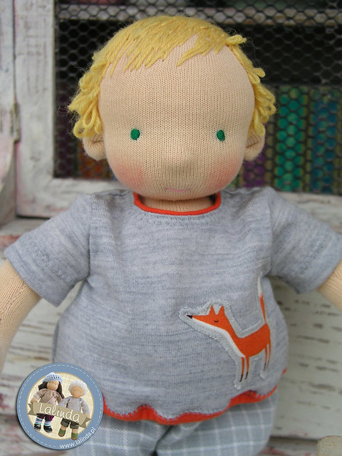 Benek - waldorf boy doll 10 inch