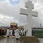 Освящения поклонного креста на въезде в станицу Раевская
