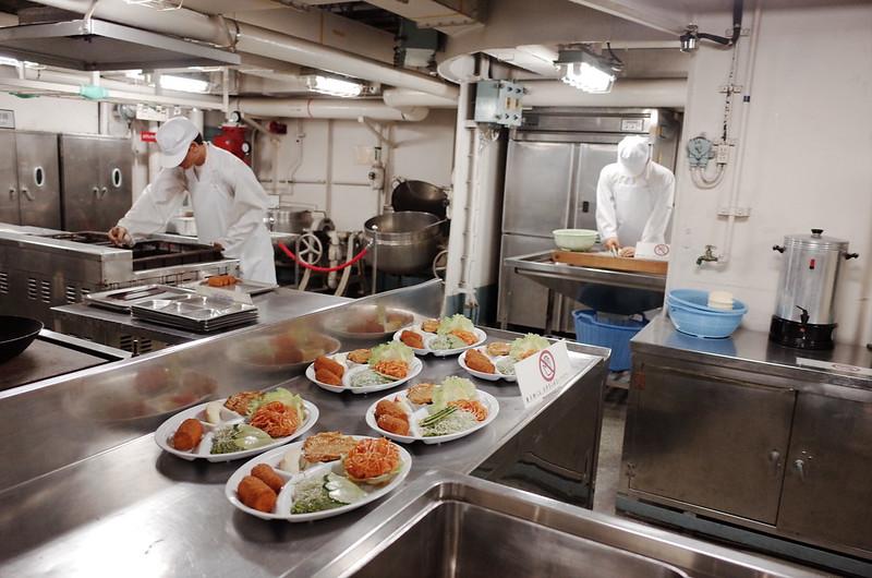 名古屋港南極観測船ふじ船内食堂