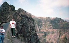 Walking on the mountain road in Santo Antao
