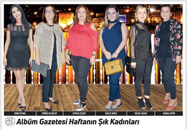 Ebru Kıyak, Emine Kılınçay, Fatma Çeçem, Gülce Şenli, Dilek Yaşar, Rabia Çetin