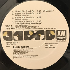 HERB ALPERT:NORTH ON SOUTH ST.(LABEL SIDE-A)