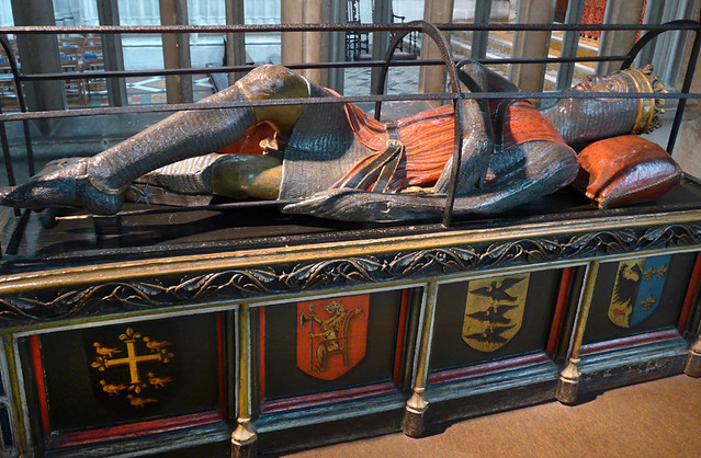 A knight's tomb in Gloucester Cathedral, England