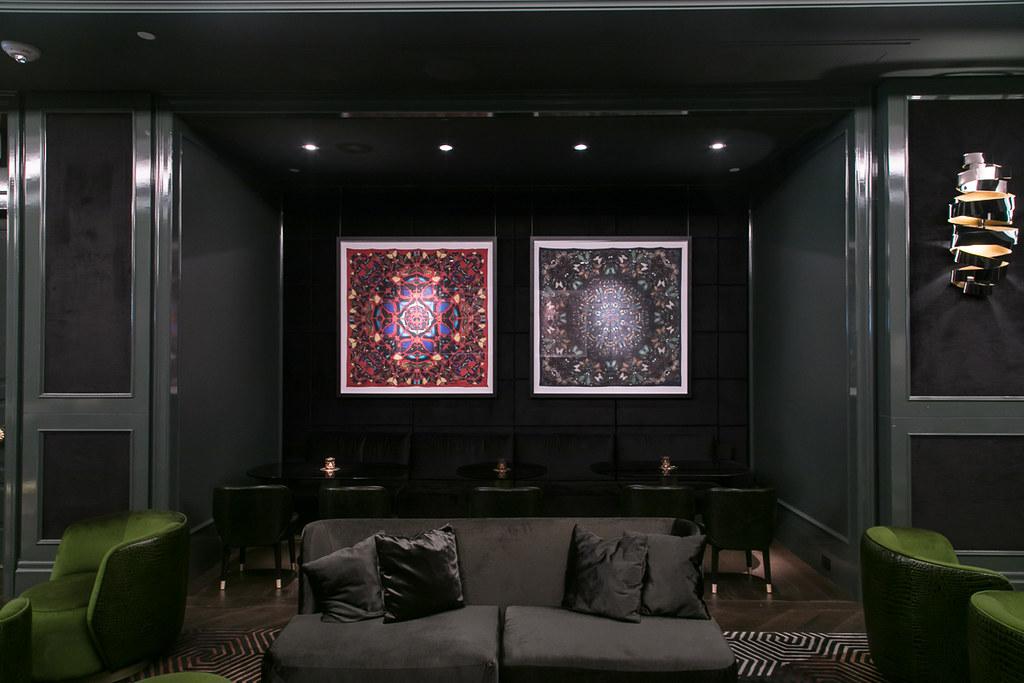 Inside Bisha Hotel's lobby bar
