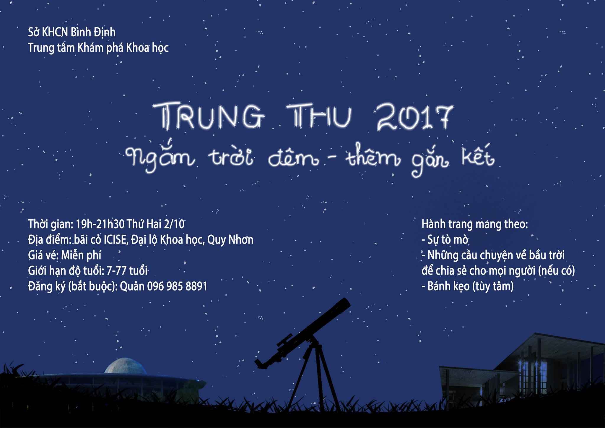 Mời dự Tiệc Trung thu-Ngắm trăng 2017