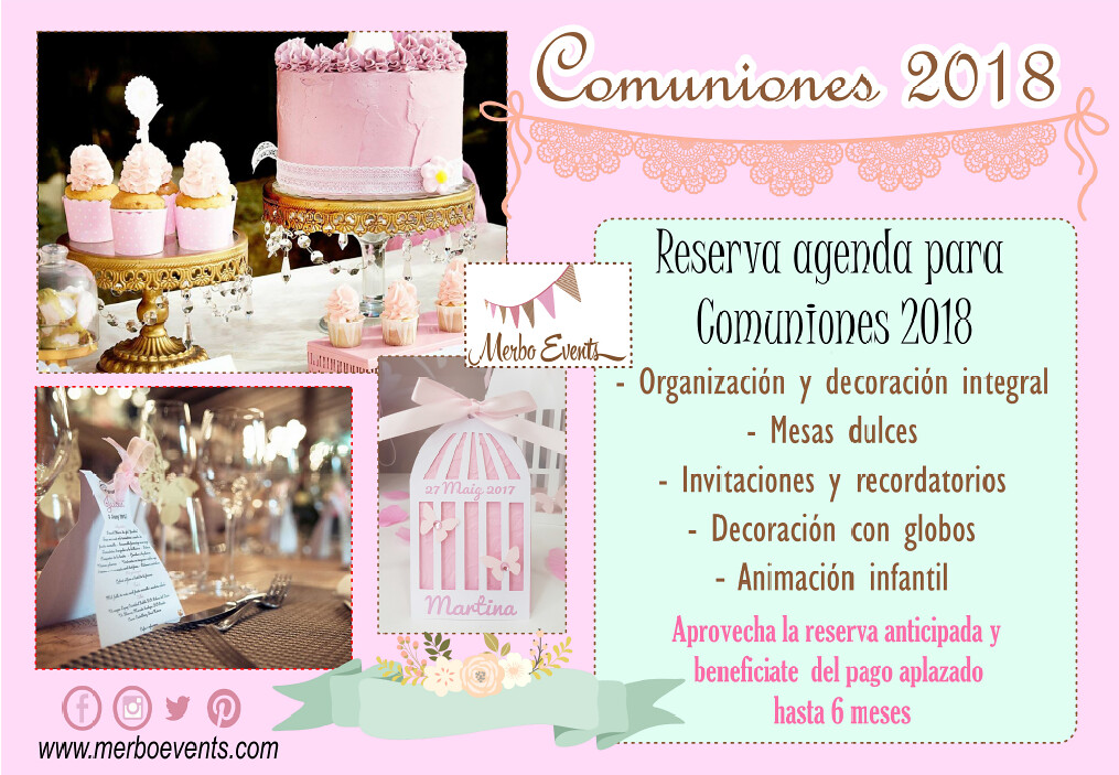 Comuniones 2018 Merbo Events
