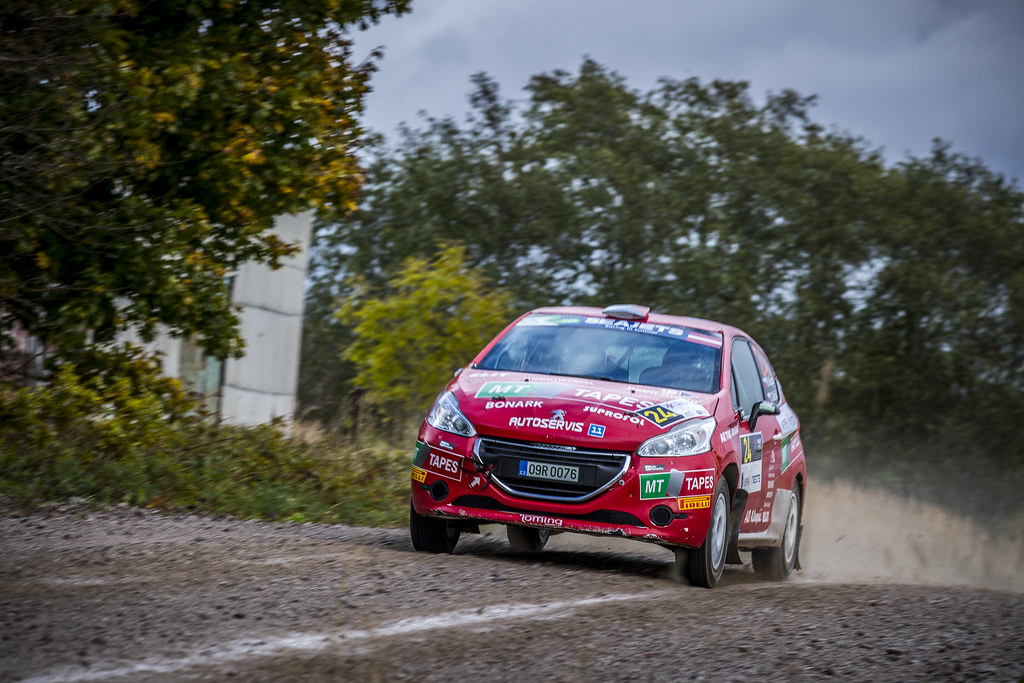24 Kupec Karel and Osička Vladimír, Botka - Tlustak Racing, Peugeot 208 R2 ERC Junior U27 action during the 2017 European Rally Championship ERC Liepaja rally,  from october 6 to 8, at Liepaja, Lettonie - Photo Gregory Lenormand / DPPI