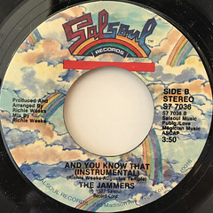 THE JAMMERS:AND YOU KNOW THAT(LABEL SIDE-B)