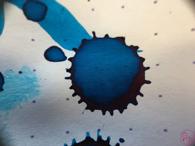 Ink Shot Review @RobertOsterInk Blue Water Ice @MilligramStore 12