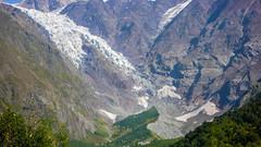 To co pozostało po lodowcu Koruldashi na Ailama 4547m.