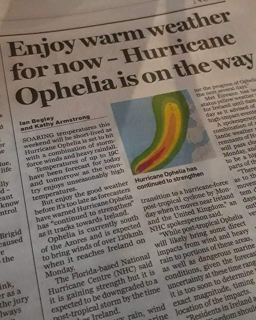 Roh roh. . . #Ophelia #Ireland #rain #travel #cycle #Eire