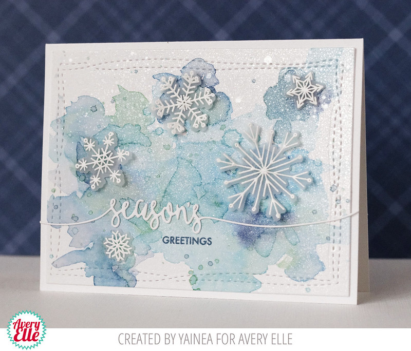 My paper journey: Snowflakes Christmas card with Avery Elle