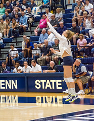PSU #7 Abby Detering serving