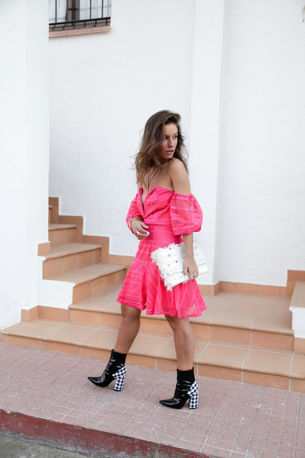 06_vestido_rosa_off_shoulder_danity_paris_pink_dress_theguestgirl_outfit_boots_vichy_trend_alert