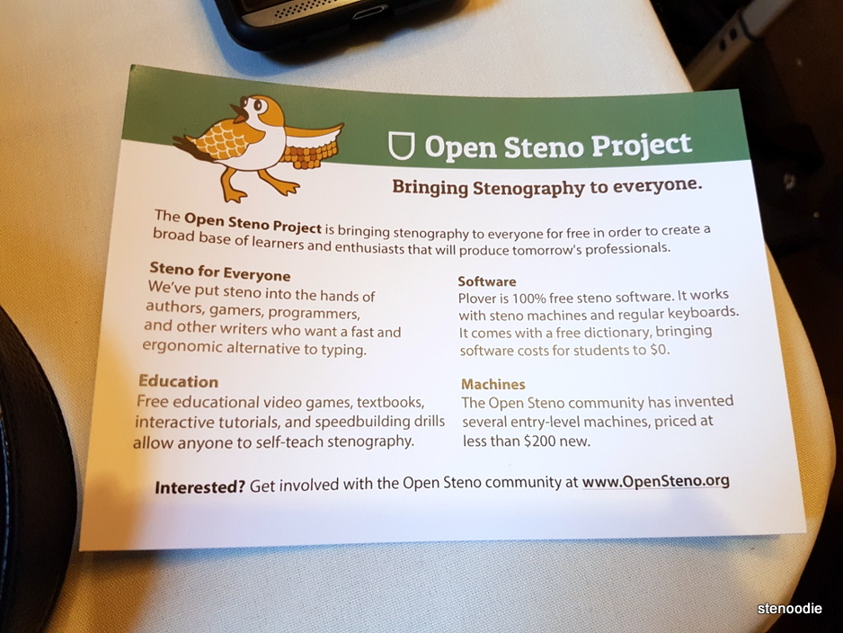 Open Steno Project details