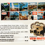 Fri, 1966-07-01 00:00 - See Norway, Rome, & Detroit, Advertisement in Holiday magazine. ----------- View-Master started in 1939. Tourist attraction and  travel views predominated in View-Master's early reels, -- Wikipedia
