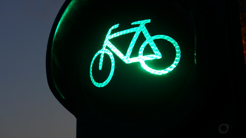 green for bicycles