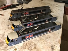 """90009 Anglia variants for """"Precision Decals"""" these 3 Skoda's will be made available via the Precision Decals / Labels Website shortly if anyone is interested in the finished model... obviously there on chassis's and glazed up now too :)"""
