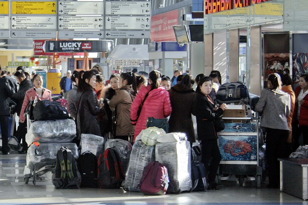 North Koreans Knevichi international airport (Vladivostok, Russia)3
