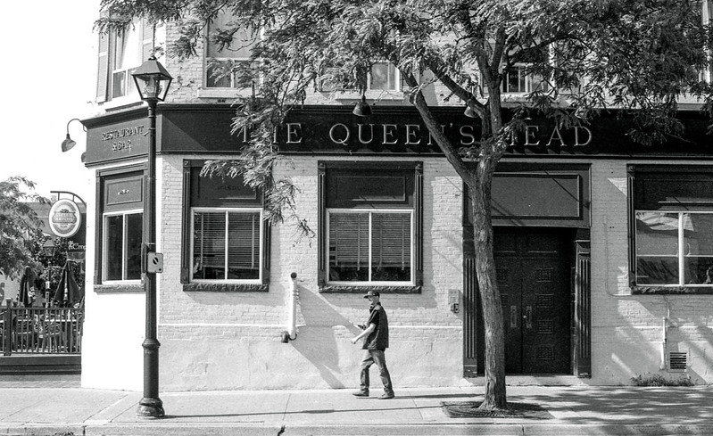 Walking Past The Queen's Head Burlington_