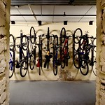Bike storage room or awesome bike sculpture art? Why not both?