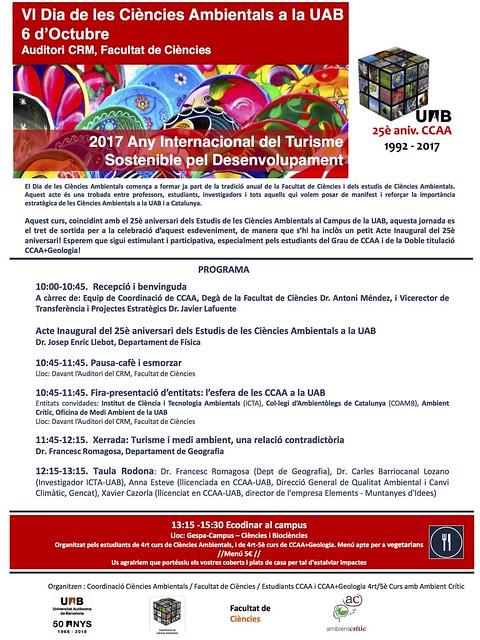 Dia de les Ciències Ambientals ICTA-UAB