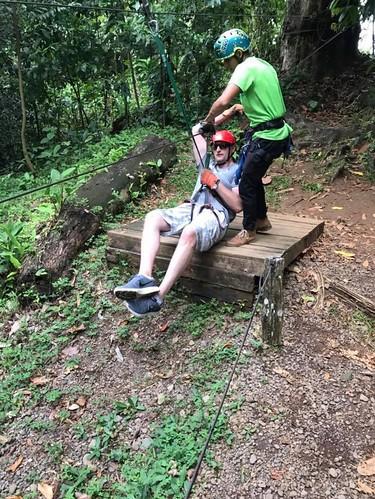Canopy zip line in Sarapiqui, Costa Rica. Costa Rica's Motto, Pura Vida, Comes Through in Its Humble Dish, Gallo Pinto