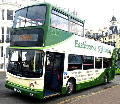 V309 KGW 'Seaford & District' No. TA9 'Eastbourne Sightseeing' Dennis Trident 2 / Alexander ALX 400 on 'Dennis Basford's railsroadsrunways.blogspot.co.uk'