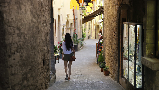 Strolling down the alleys of San Marino
