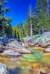 Amazing Water Streams Shot in Yosemite National Park in California. Long Shutter Speed Used.HDR Toning