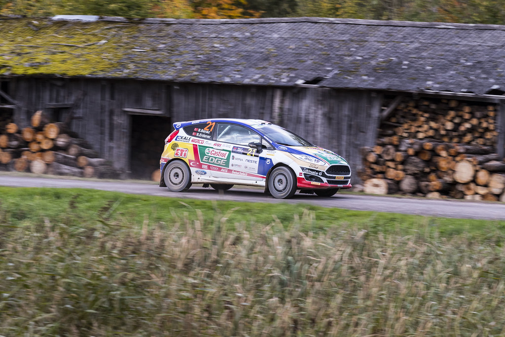 21 Banaz Bugra and Erdener Burak, Castrol Ford Team Turkiye, Ford Fiesta R2T ERC Junior U27 action during the 2017 European Rally Championship ERC Liepaja rally,  from october 6 to 8, at Liepaja, Lettonie - Photo Gregory Lenormand / DPPI